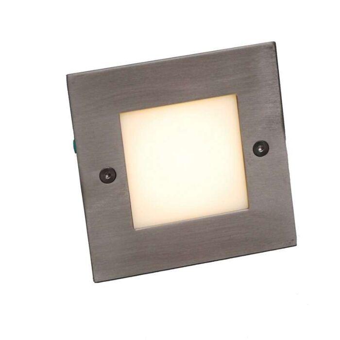 Spotlight/downlight-'LEDlite-Square-10-WW'-Moderna-rostfritt-stål---LED-inkluderat-/-Utomhus,-Inomhus,-Badrum