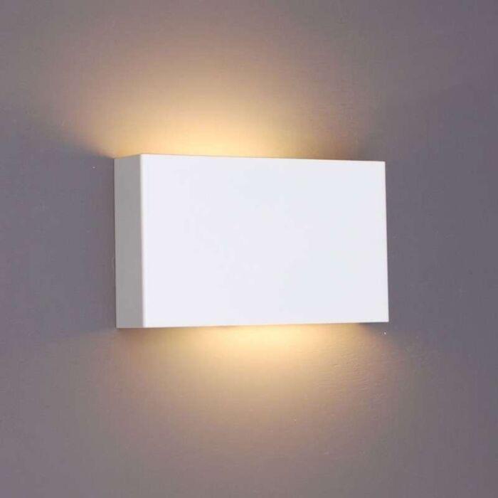 Vägglampa-'Otan'-Design-vit/metall---Passande-för-LED-/-Inomhus