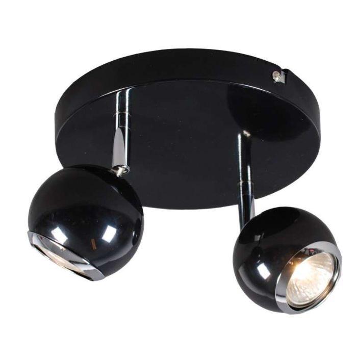 Plafond-strålkastare-'Buell-2'-Retro-svart/metall---Passande-för-LED-/-Inomhus
