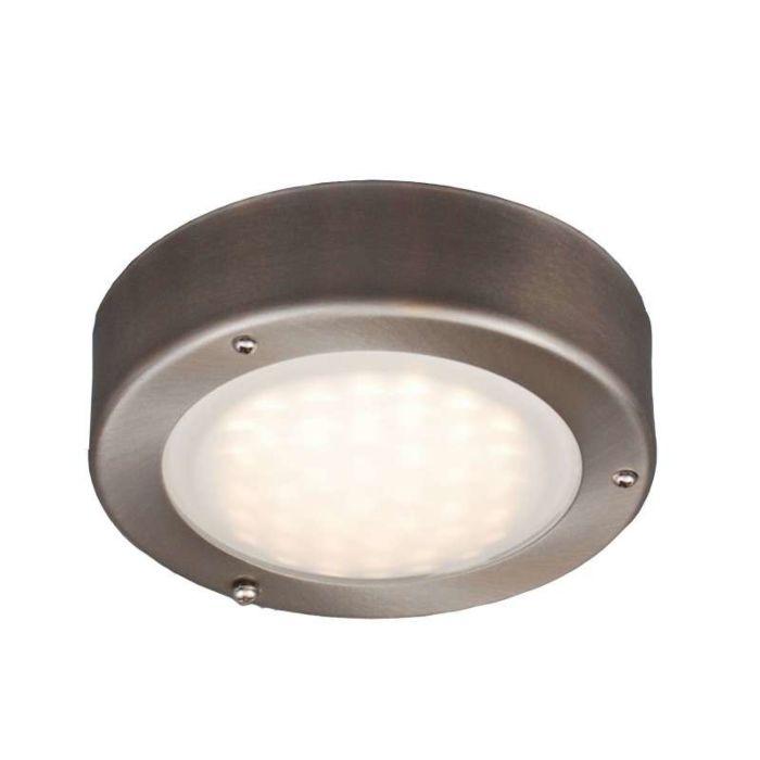 Plafond-och-vägglampa-'Saygo-R'-Moderna-rostfritt-stål---LED-inkluderat-/-Utomhuslampa,-Inomhus,-Badrum