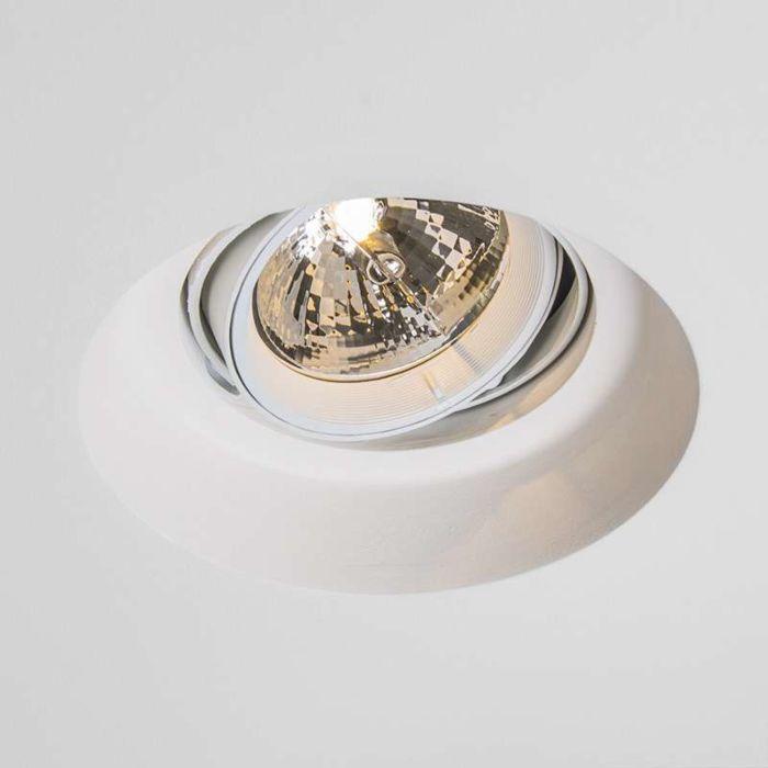 Spotlight/downlight-'Gipsy-Zero-R-I-AR111'-Moderna-vit/gips-Passande-för-LED
