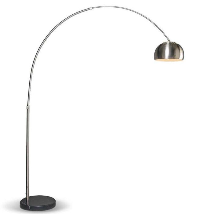 Modern-båglampa-stål-justerbar---Grande