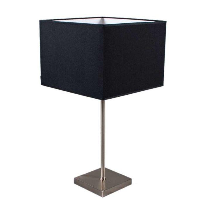 Bordslampa-med-dimmer-'VT-Large'-Moderna-svart/tyg---Passande-för-LED-/-Inomhus