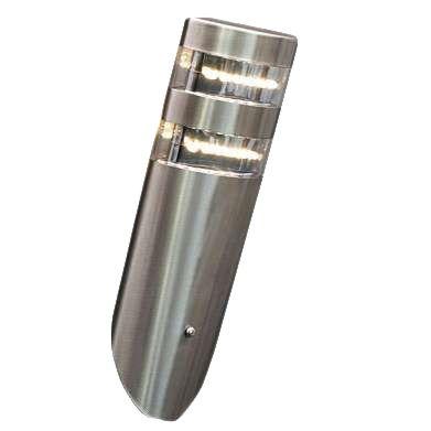 Vägglampa-'Delta'-Moderna-stål---LED-inkluderat-/-Utomhuslampa