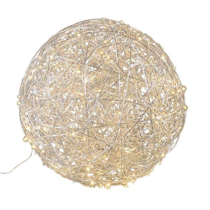 Golvlampa-klot-'Draht-80'-Design-aluminium---LED-inkluderat-/-Utomhuslampa,-Inomhus