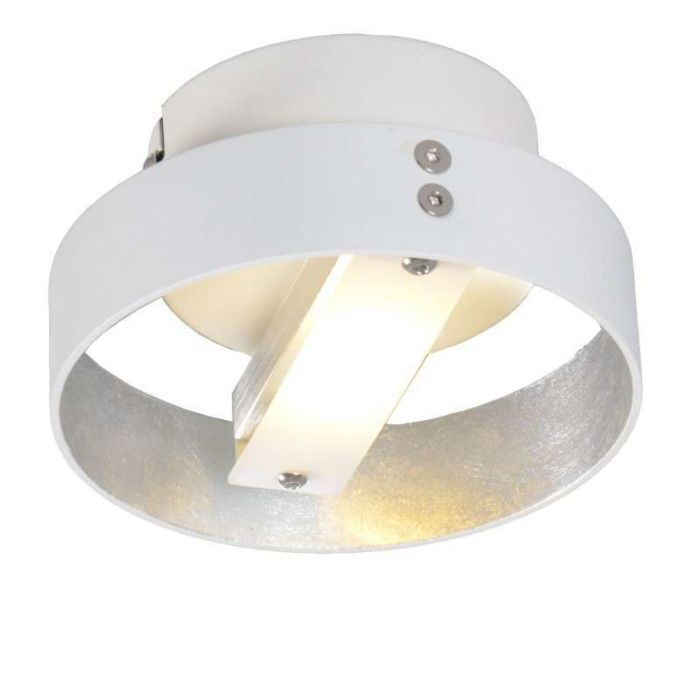 Plafond-'Double-1'-Design-vit/metall---LED-inkluderat-/-Inomhus