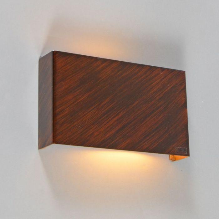 Vägglampa-'Otan'-Lantlig-brunrost/metall---Passande-för-LED-/-Inomhus