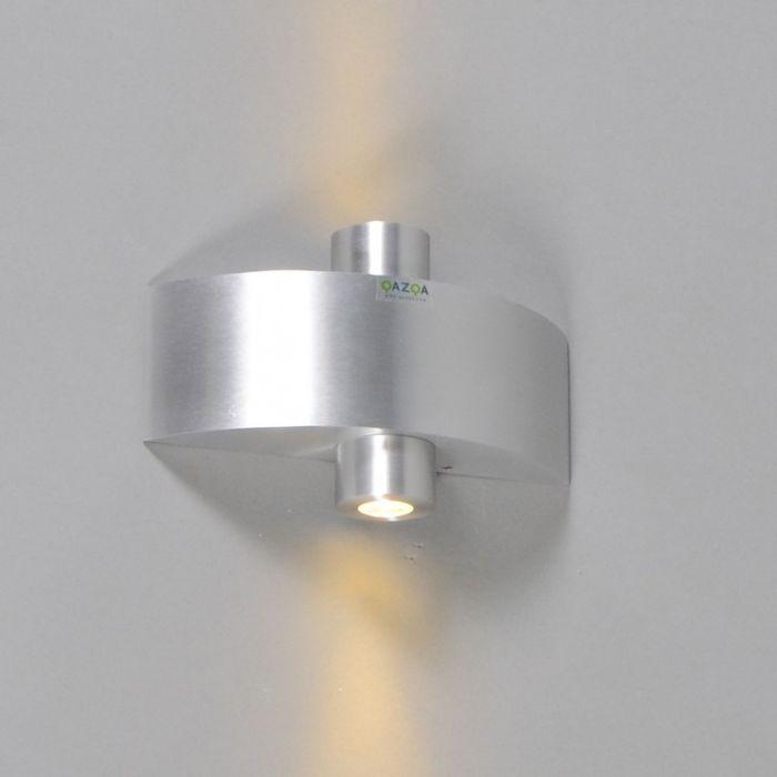 Vägglampa-'Jade'-Moderna-aluminium---LED-inkluderat-/-Utomhuslampa,-Inomhus,-Badrum