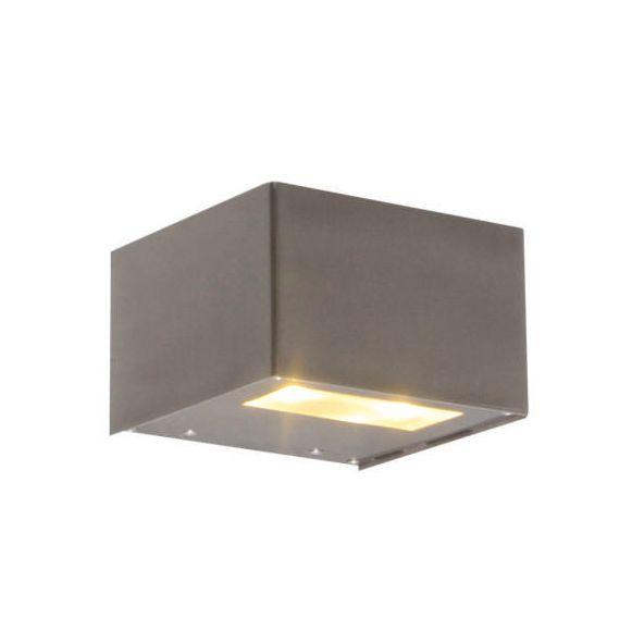 Vägglampa-'Ayer'-Moderna-rostfritt-stål---LED-inkluderat-/-Utomhuslampa,-Inomhus,-Badrum