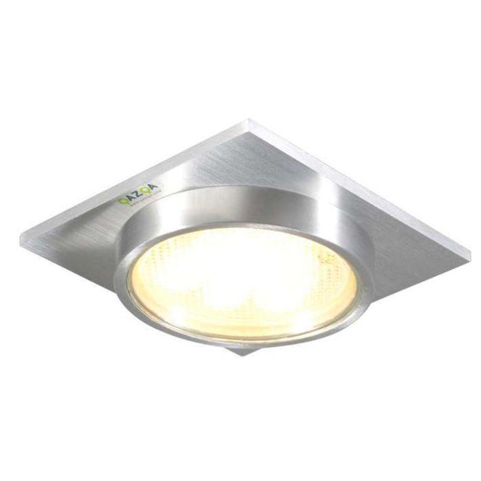 Spotlight/downlight-'Topaz-Q'-Moderna-aluminium---Passande-för-LED-/-Utomhuslampa,-Inomhus,-Badrum