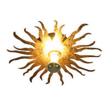 Plafond-och-vägglampa-'Cecilio'-Moderna-guld---Passande-för-LED-/-Inomhus