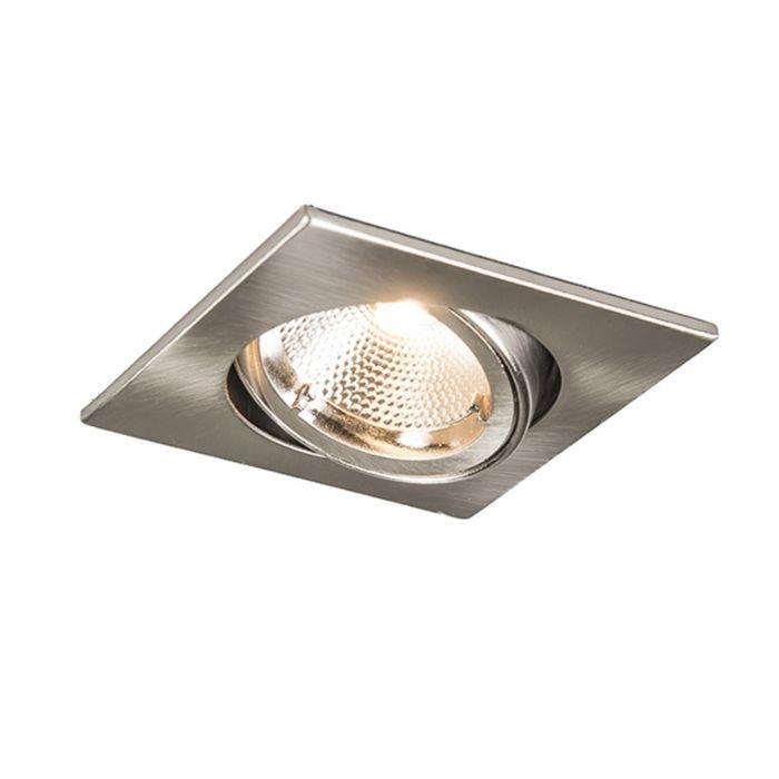 Spotlight/downlight-'Safe-Q-6W'-Moderna-stål---LED-inkluderat-/-Inomhus