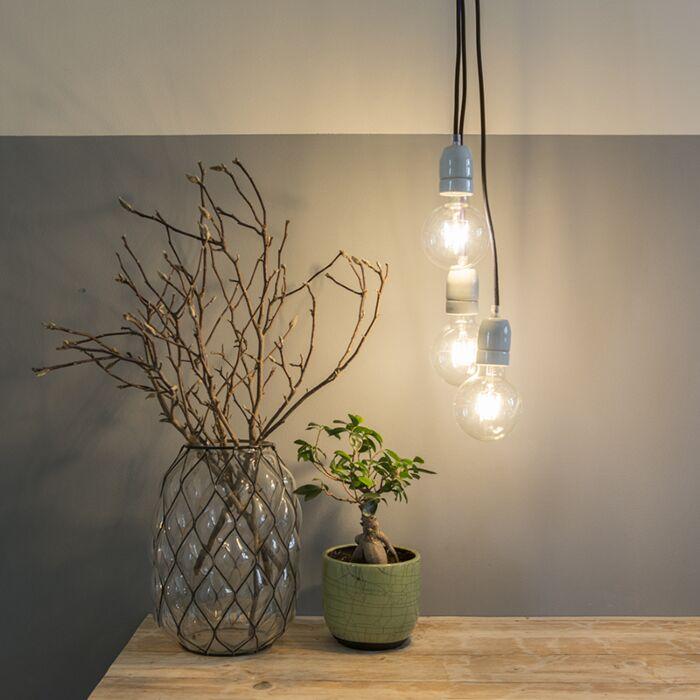 Minimalistisk-taklampa-'Cavo'-Modern-lila/tyg---Passar-för-LED-/-Inomhus