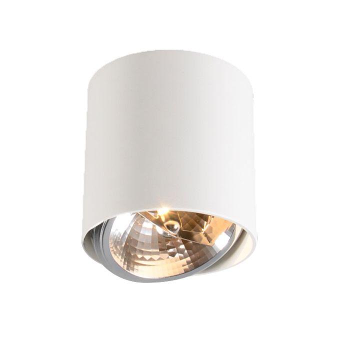 Plafond-strålkastare-'Impact-Up-1'-Design-vit/aluminium---Passande-för-LED-/-Inomhus