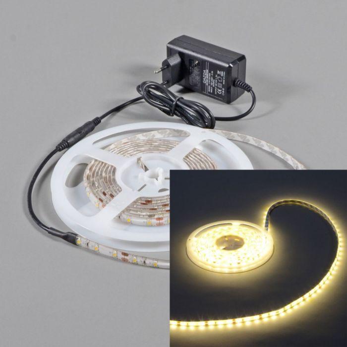 LED-strip-'IP65-5m'-Moderna-vit/polyester---LED-inkluderat-/-Utomhuslampa,-Badrum