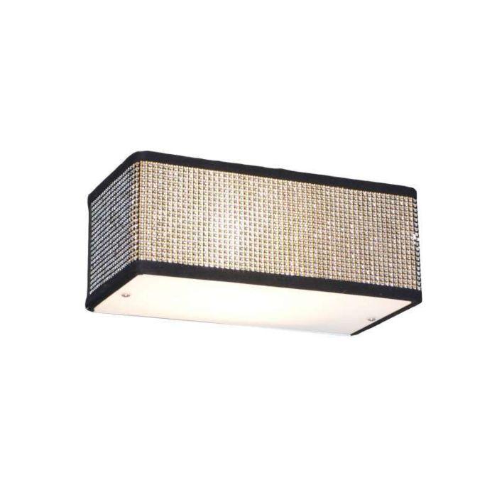 Vägglampa-'Drum-S'-Design-svart/kristall---Passande-för-LED-/-Inomhus