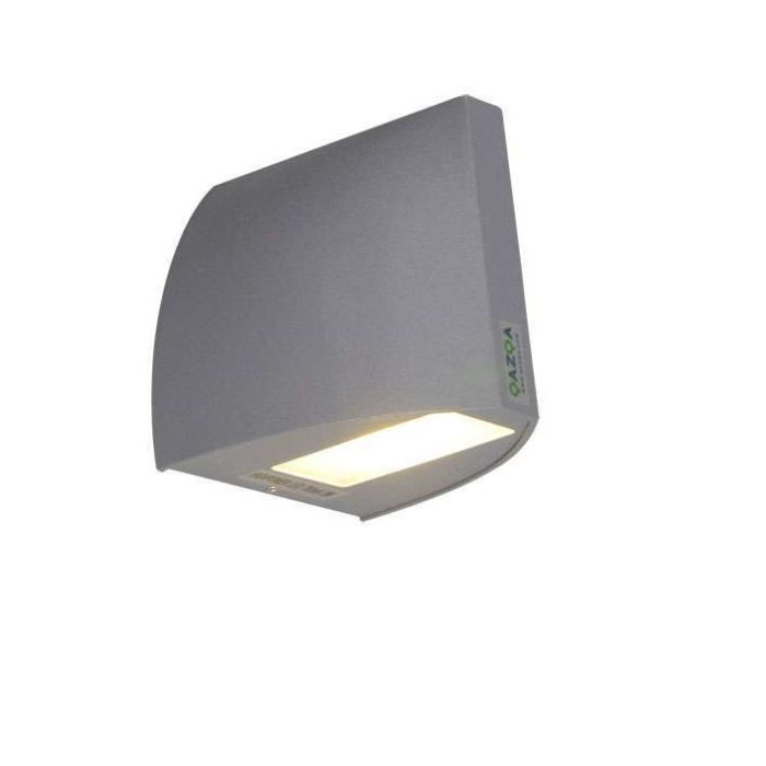 Vägglampa-'Mimo'-Moderna-grafit/aluminium---LED-inkluderat-/-Utomhuslampa,-Inomhus,-Badrum