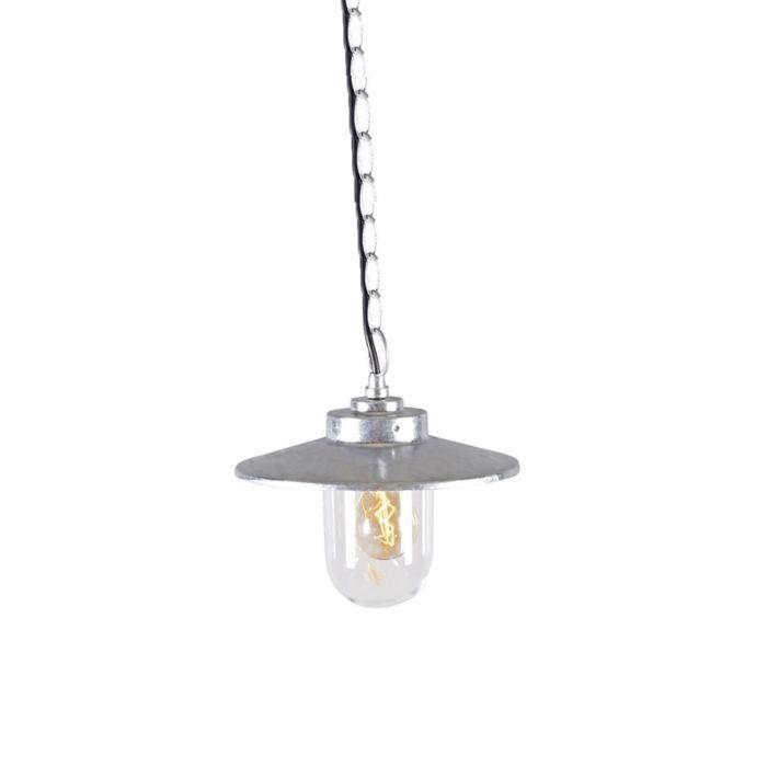 Taklampa-'Aachen'-Lantlig-grå/zink---Passande-för-LED-/-Utomhuslampa