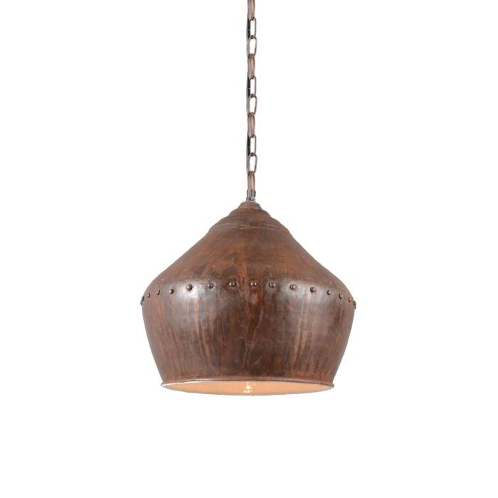 Taklampa-'Barun'-Industriell-brunrost/metall---Passande-för-LED-/-Inomhus