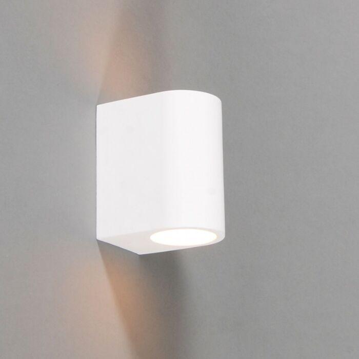 Vägglampa-'Gipsy-Arles-R'-Moderna-vit/gips---Passande-för-LED-/-Inomhus