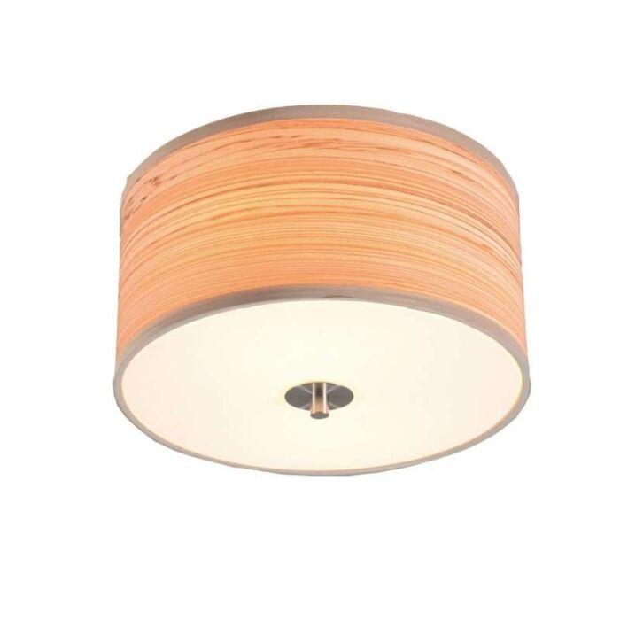 Plafond-'Drum-30'-Moderna-brun/polyester---Passande-för-LED-/-Inomhus