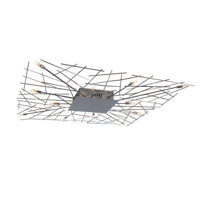 Stor-plafond-'Forest-Square-12'-Moderna-krom---Passande-för-LED-/-Inomhus