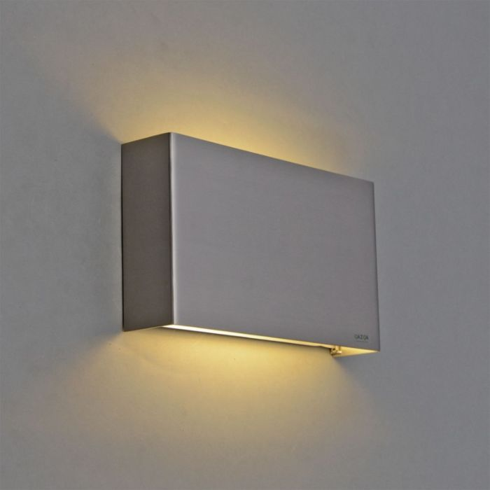 Vägglampa-'Otan'-Moderna-stål---LED-inkluderat-/-Inomhus