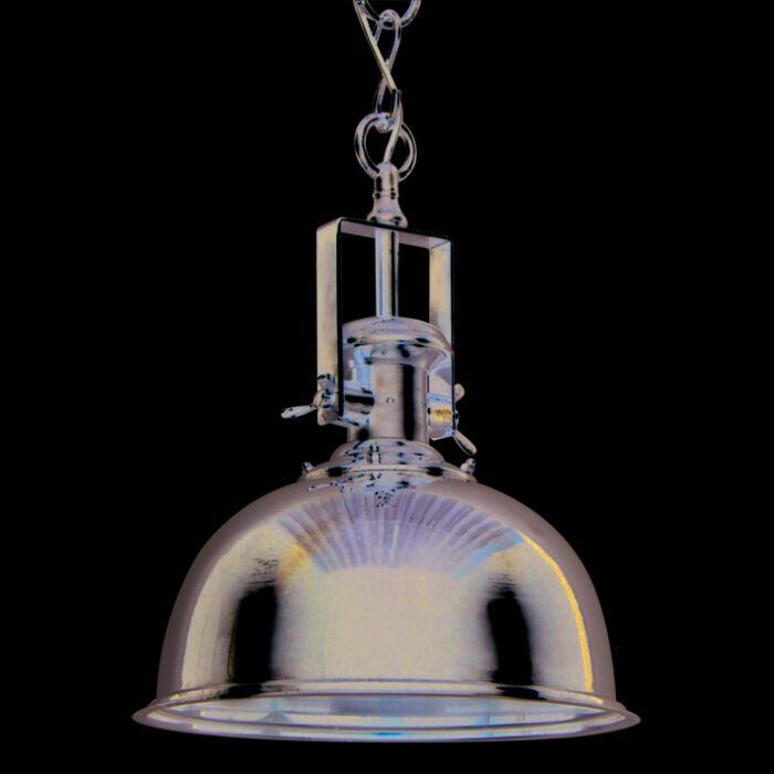 Taklampa-'Zine-L'-Industriell-krom/nickel---Passande-för-LED-/-Inomhus