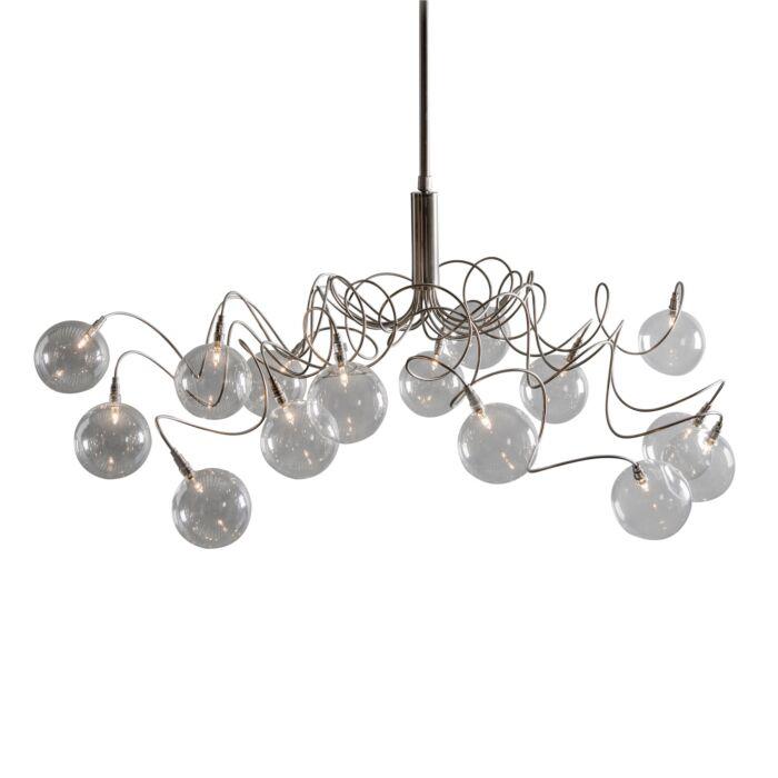 Taklampa-till-matsal-'Soap-15'-Moderna-transparent/glas---Passande-för-LED-/-Inomhus