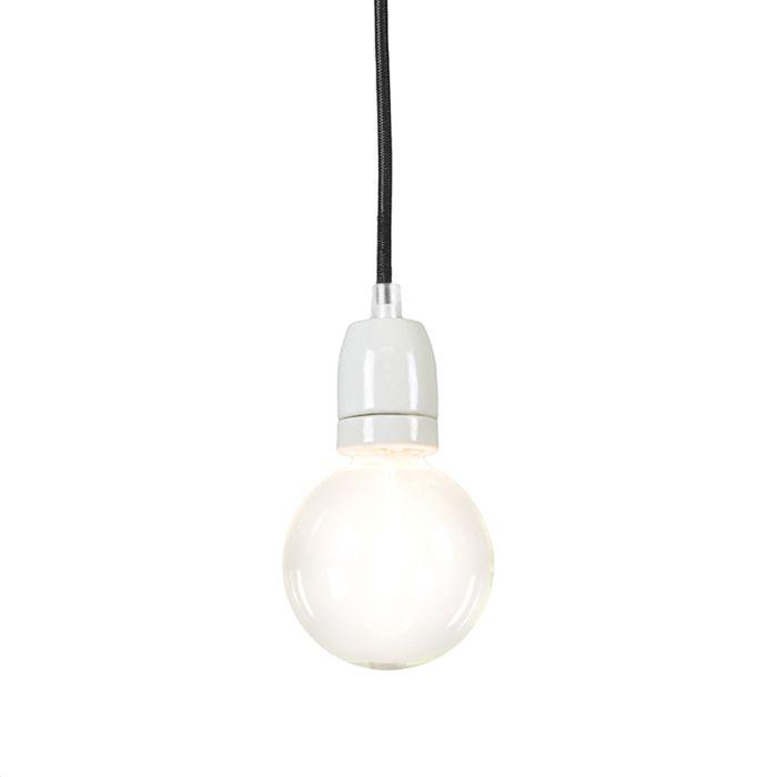 Minimalistisk-taklampa-'Cavo'-Moderna-svart/tyg-Passande-för-LED