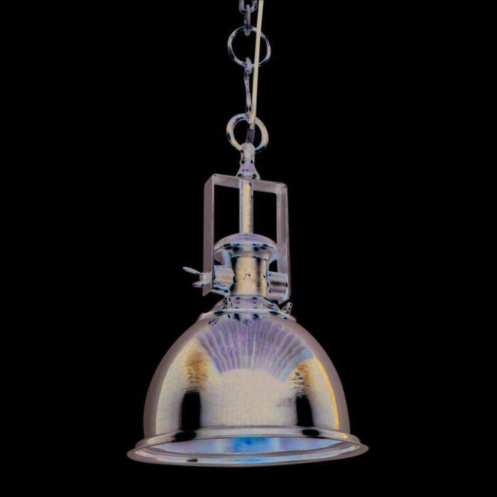 Taklampa-'Zine-M'-Industriell-krom/nickel---Passande-för-LED-/-Inomhus