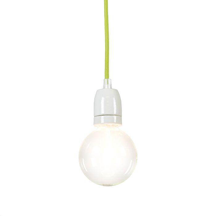 Minimalistisk-taklampa-'Cavo'-Moderna-grön/tyg---Passande-för-LED-/-Inomhus