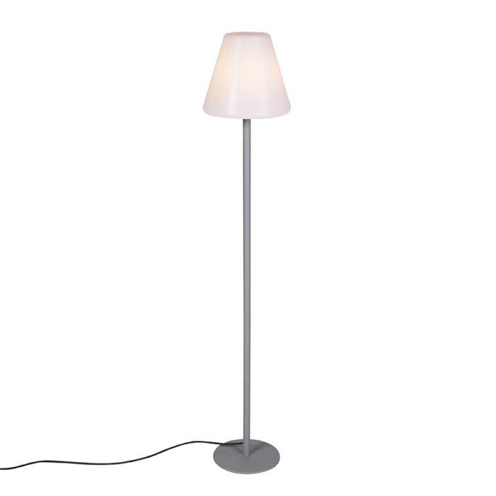 Modern-utomhusgolvlampa-grå-IP65---Virginia