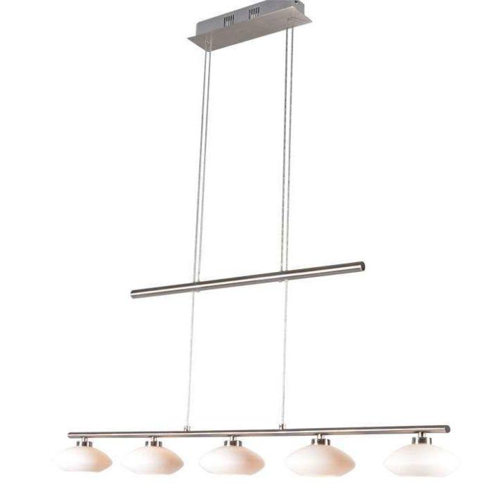 Taklampa-till-matsal-'Saturno-5'-Moderna-stål---Passande-för-LED-/-Inomhus