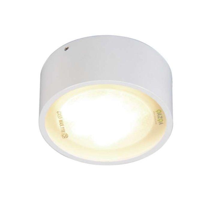 Plafond-och-vägglampa-'Dox-1'-Moderna-vit/metall---Passande-för-LED-/-Inomhus