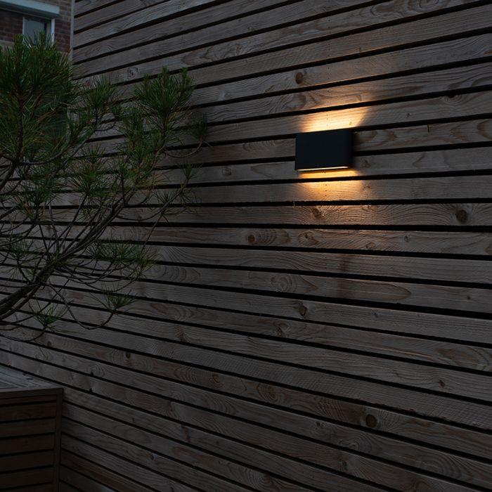 Modern-vägglampa-antracit-inkl-LED-IP54---Otan-Outdoor