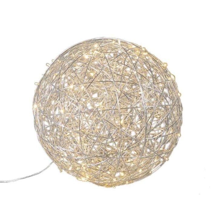 Golvlampa-klot-'Draht-60'-Design-aluminium---LED-inkluderat-/-Utomhuslampa,-Inomhus