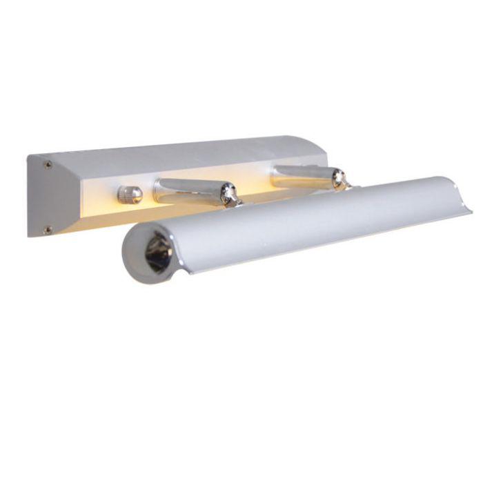 Vägglampa-målningsbar-'Pittura-8W'-Moderna-grå/polyester-Inomhus