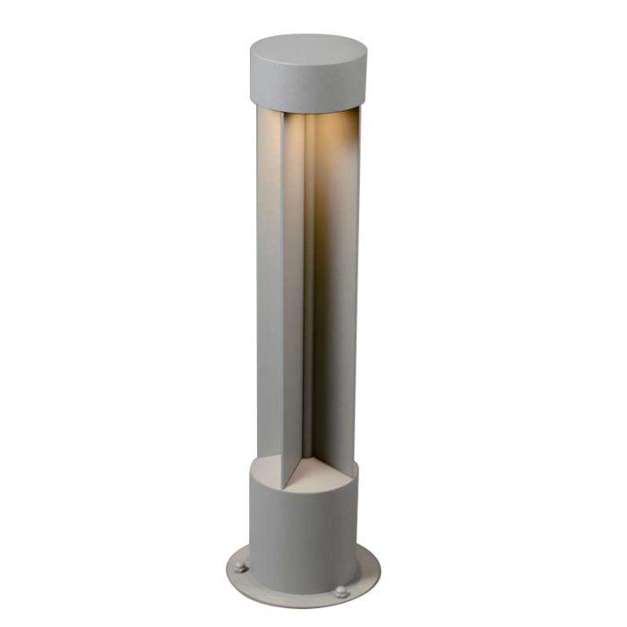 Lykta-till-gång-och-terrass-'Reda-R'-Moderna-grå/aluminium---LED-inkluderat-/-Utomhuslampa
