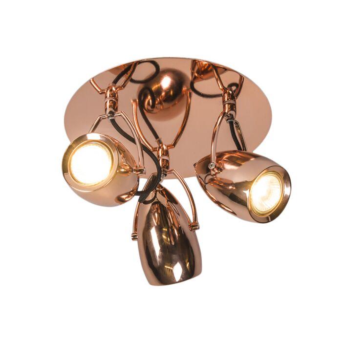Plafond-strålkastare-'Element-3'-Design-koppar---Passande-för-LED-/-Inomhus