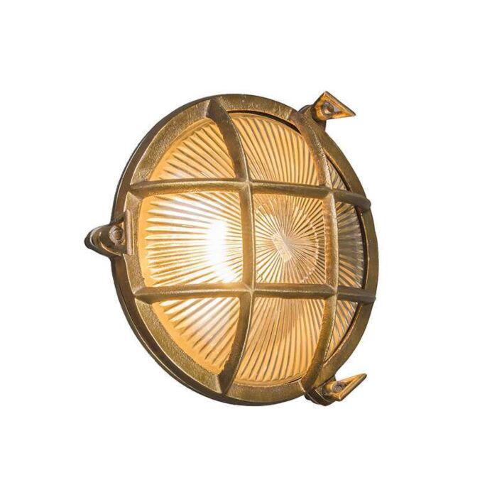 Plafond-och-vägglampa-'Nautica-R'-Klassisk-guld/nickel---Passande-för-LED-/-Utomhuslampa,-Inomhus,-Badrum