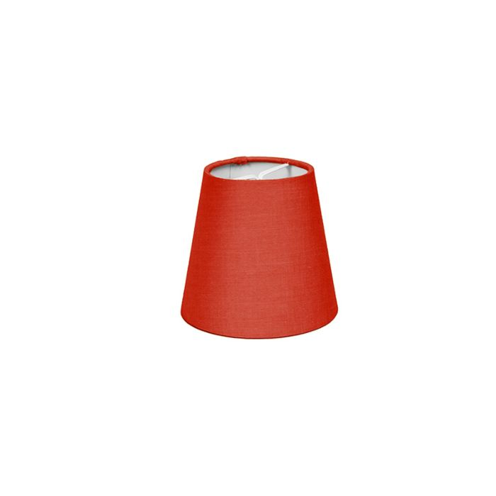 Skärm-med-glödlampsfäste-'10cm-R-SC'-Nej-röd/tyg