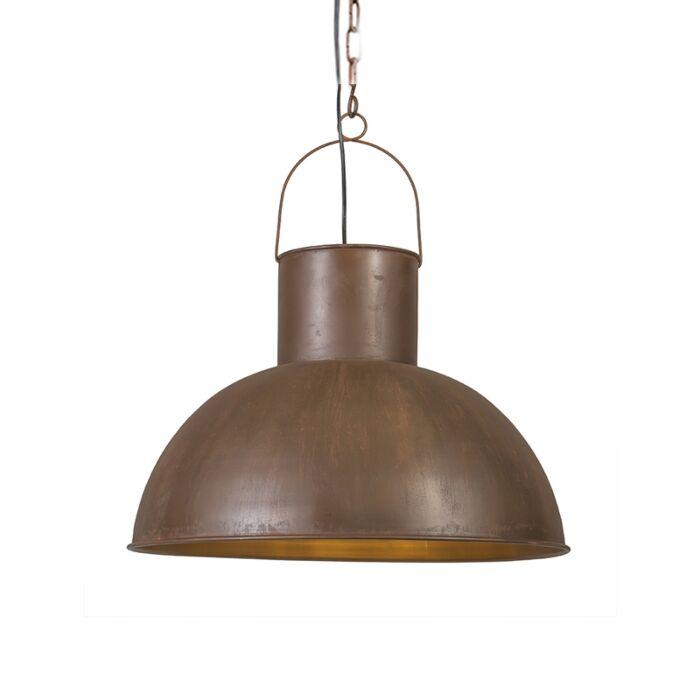 Stor-taklampa-'Rust-XL'-Lantlig-brunrost/metall---Passande-för-LED-/-Inomhus