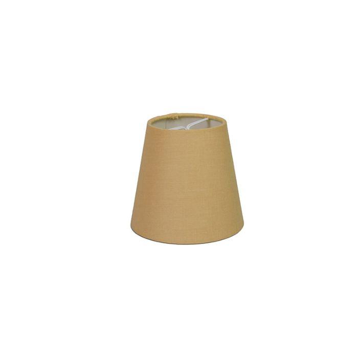 Skärm-med-glödlampsfäste-'10cm-R-SC'-Nej-beige/tyg