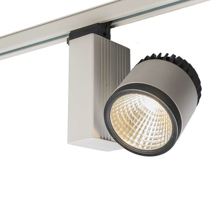 3-fas-samlingsskena-strålkastare-'Ruler-II-35W'-Moderna-vit/aluminium---LED-inkluderat-/-Inomhus