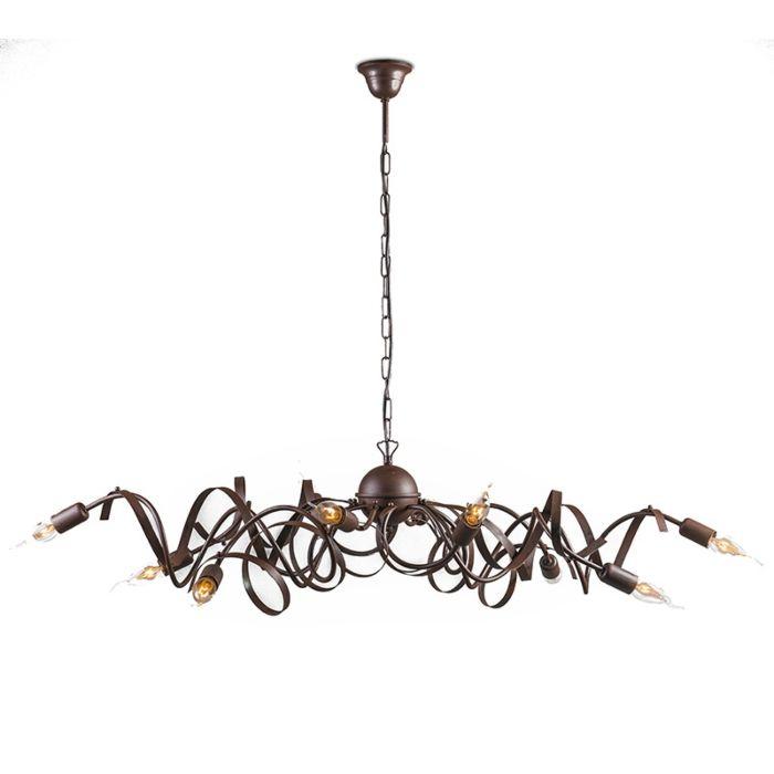 Lantlig-hängande-lampa-rostbrun---Ricciolo
