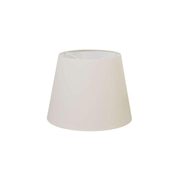 Polyester-lampskärm-grädde-vit-35-/-27,5