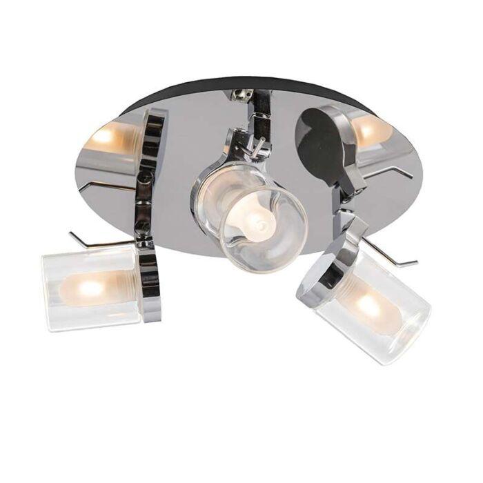 Plafond-strålkastare-'Giulia-3'-Moderna-krom/rostfritt-stål---Passande-för-LED-/-Inomhus,-Badrum