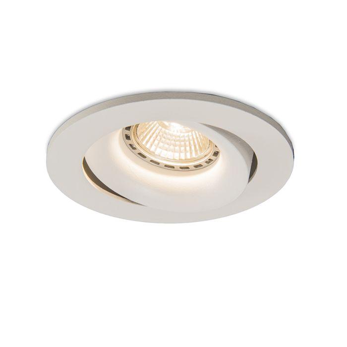 Spotlight/downlight-'Torno-1'-Moderna-vit/aluminium---Passande-för-LED-/-Inomhus