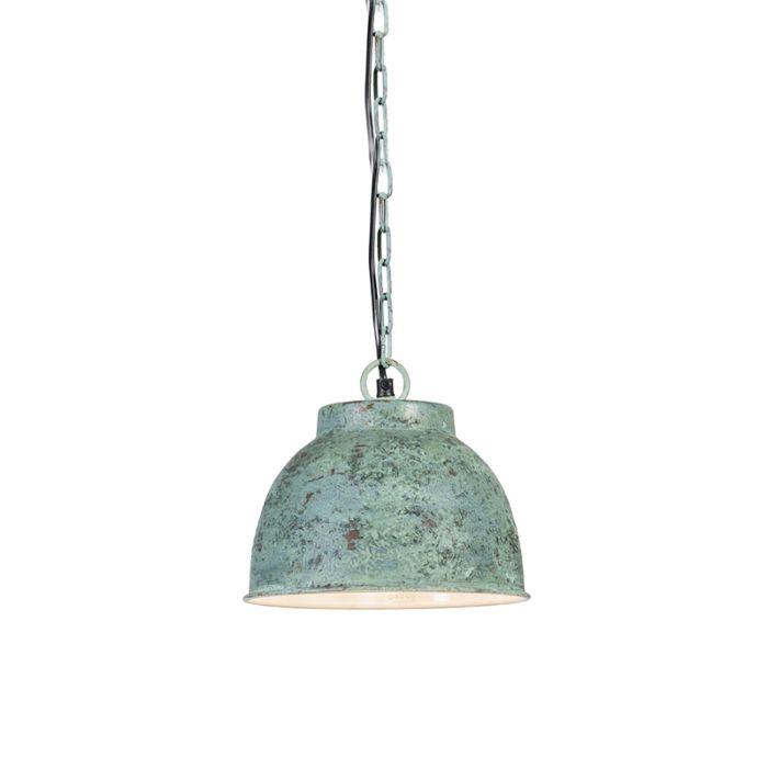 Taklampa-'Vintage-S'-Lantlig-grön/metall---Passande-för-LED-/-Inomhus